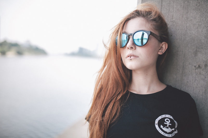 Redhead with Sunglasses
